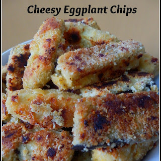 Grain Free Cheesy Eggplant Chips