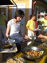 Photo: Yoga Farm, Grass Valley, CA - buffet style vegetarian meals