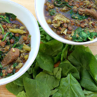 Broccoli, Beef & Lentil Soup Recipe