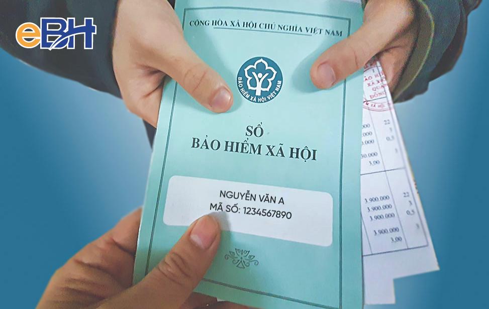 Mã số BHXH được ghi lên sổ bảo hiểm xã hội.