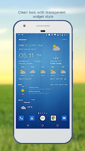 Weather & Clock Widget for Android screenshot 3