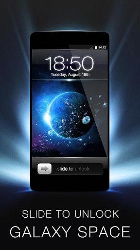 Slide to Unlock - Galaxy Theme