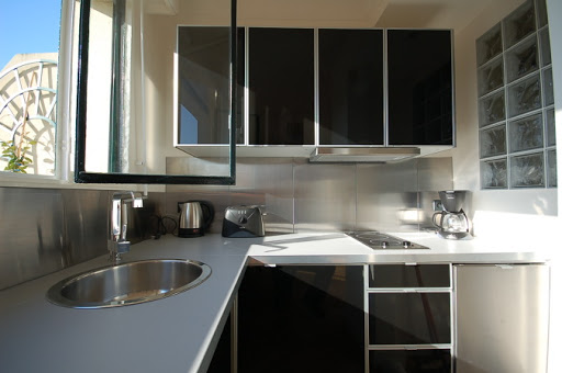 Full kitchen at Studio apartment near Eiffel Tower