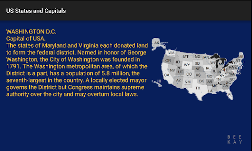 US States & Capitals- screenshot thumbnail