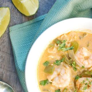 Coconut Curry Shrimp Ramen Bowl.