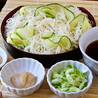 Hiyashi Somen (Japanese Chilled Somen Noodles with Dipping Sauce) Recipe