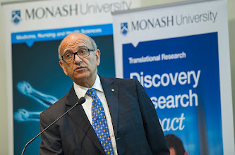 Photo: Emeritus Prof Hatem Salem, reflecting on the Alfred-Monash history  http://www.med.monash.edu.au/cecs/events/2015-tr-symposium.html