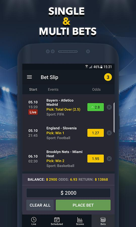 BETUP - Sports Betting Game & Live Scores Android 3