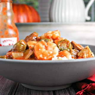 Chicken, Sausage, and Shrimp Gumbo.