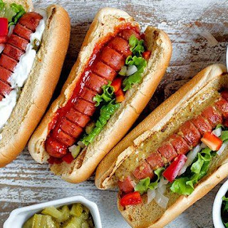 Hasselback Hot Dogs.