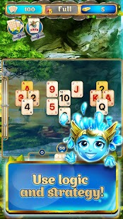 Solitaire pyramid card game for training brain - náhled