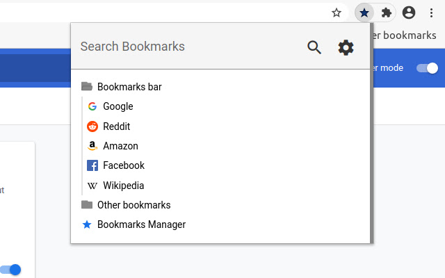 Searchable Bookmarks Manager