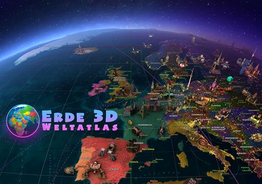 Screenshot for Erde 3D - Weltatlas in Germany Play Store