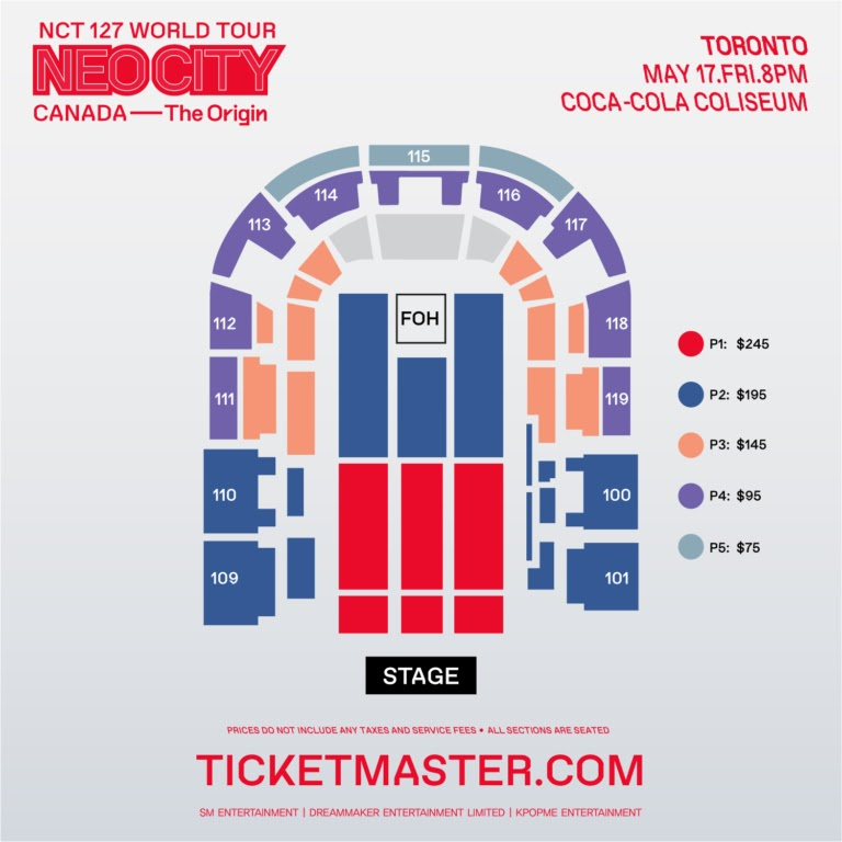 toronto nct 127 neo city prices