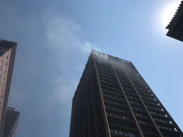 The Gauteng Health Department building in the Johannesburg CBD caught fire.