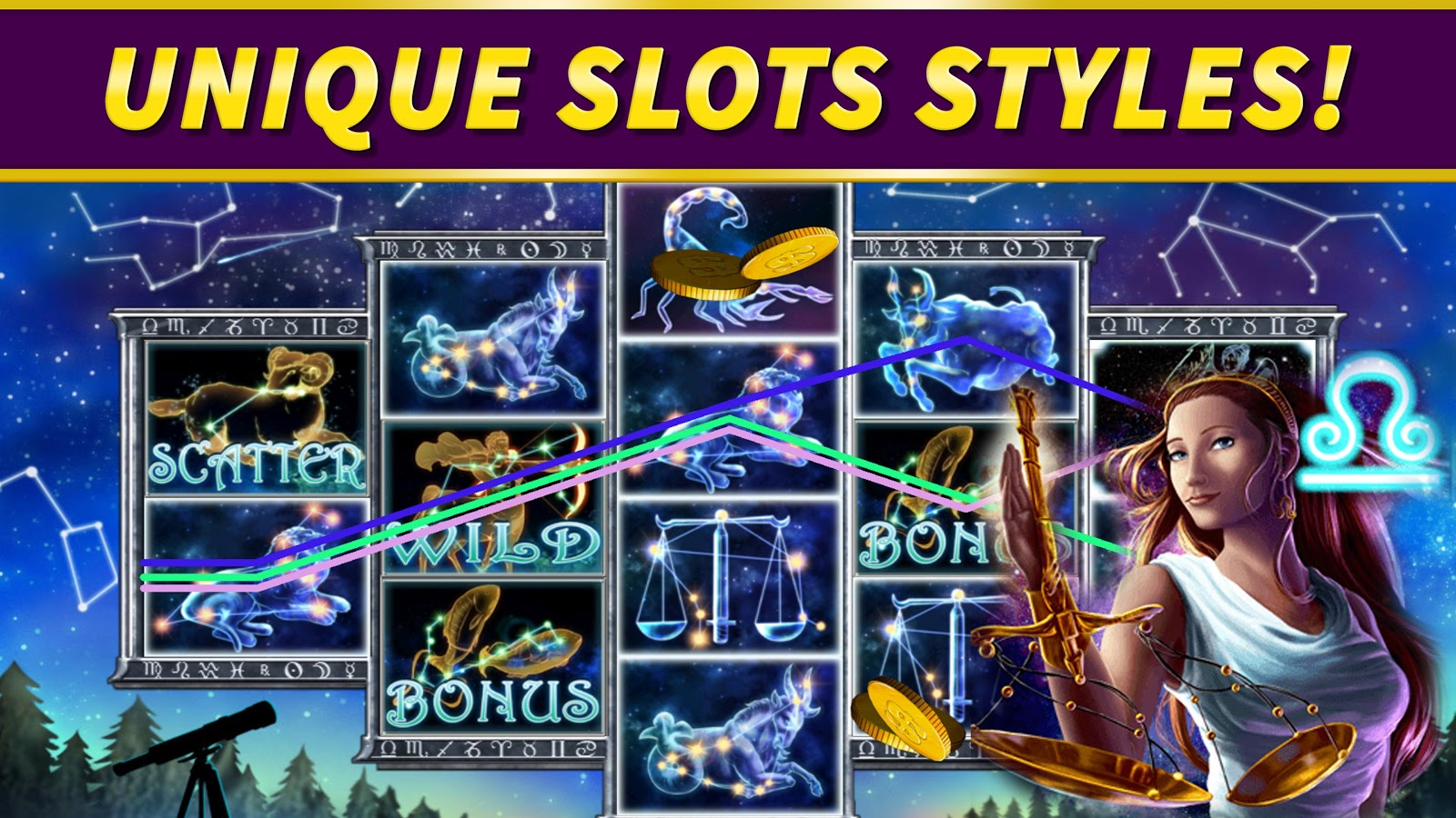 Zodiac Slot Machine - Play for Free Instantly Online