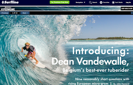 INTRODUCING: DEAN VANDEWALLE, BELGIUM'S BEST-EVER TUBE RIDER