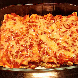 Wholemeal Enchiladas Stuffed with Pulled Pork