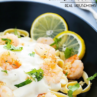 Lemon Garlic Shrimp Fettuccine