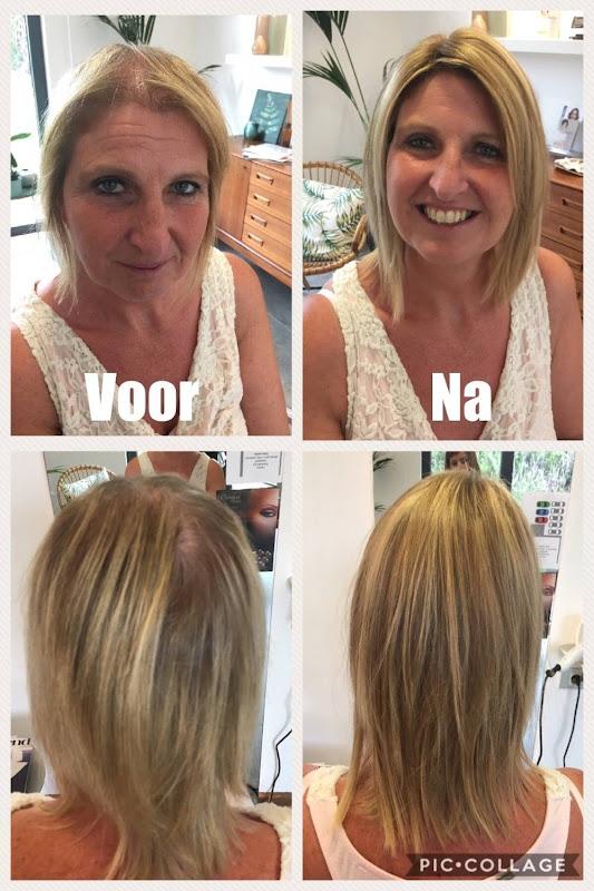 Haarwerken voor & na