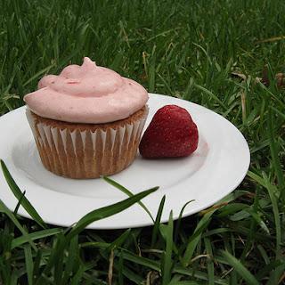 Strawberry Balsamic Cupcakes