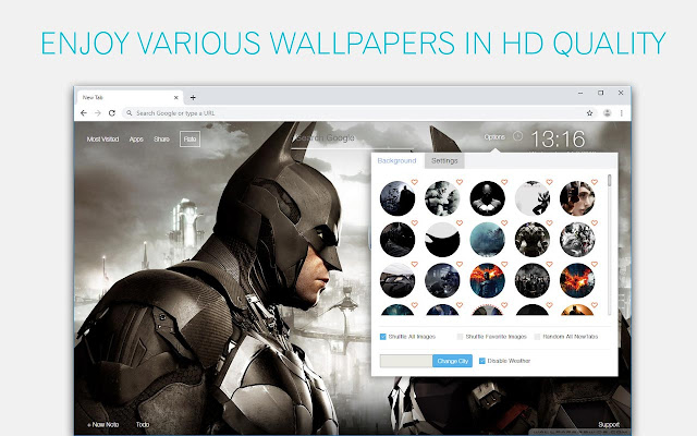 Batman Wallpapers HD New Tab Themes