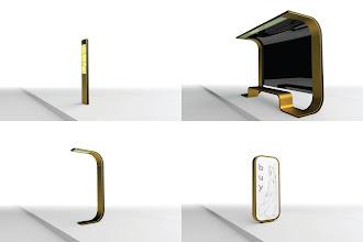 Photo: [urbanmorph] - 2011   urban furniture - information pole, shelter, urban lamp, mupi