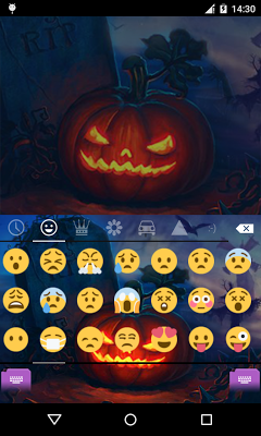 Emoji Keyboard-Pumpkin - screenshot