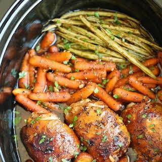 Honey Garlic Chicken and Veggies.