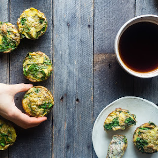 Spinach Breakfast Egg Muffins with Artichokes.