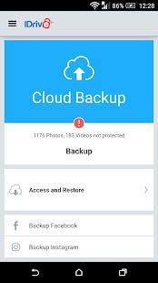 IDrive Online Backup - náhled