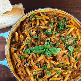One Pot Sausage Penne Pasta.