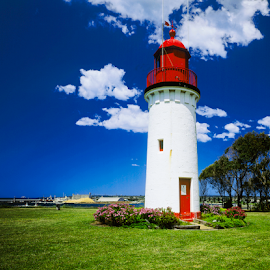 Whalers Point Portland by Annette Flottwell - Buildings & Architecture Public & Historical ( shifted to get straight lines, 4x5, tower, transport, australia, lighthouse, phare, scan, toyo field, maritime, faro,  )