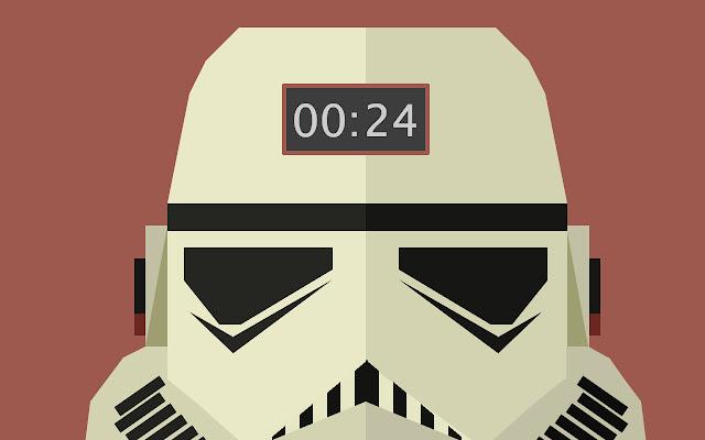Clock Star Wars Tropper Tab