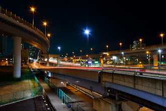 Photo: ■Today's Elevated Expressways This photo is taken by +Takahiro Yanai ! Shinonome Junction (東雲JCT) with long exposure made car tail light... 今日の高架道路をご紹介。 しばらく東雲が続きます。 長秒もやってみました。 +Elevated Expressways  #elevatedexpressways   #tokyo   #architecture     #tokyophoto   #東京フォト   #nightphotography  #taillights #carlighttrail