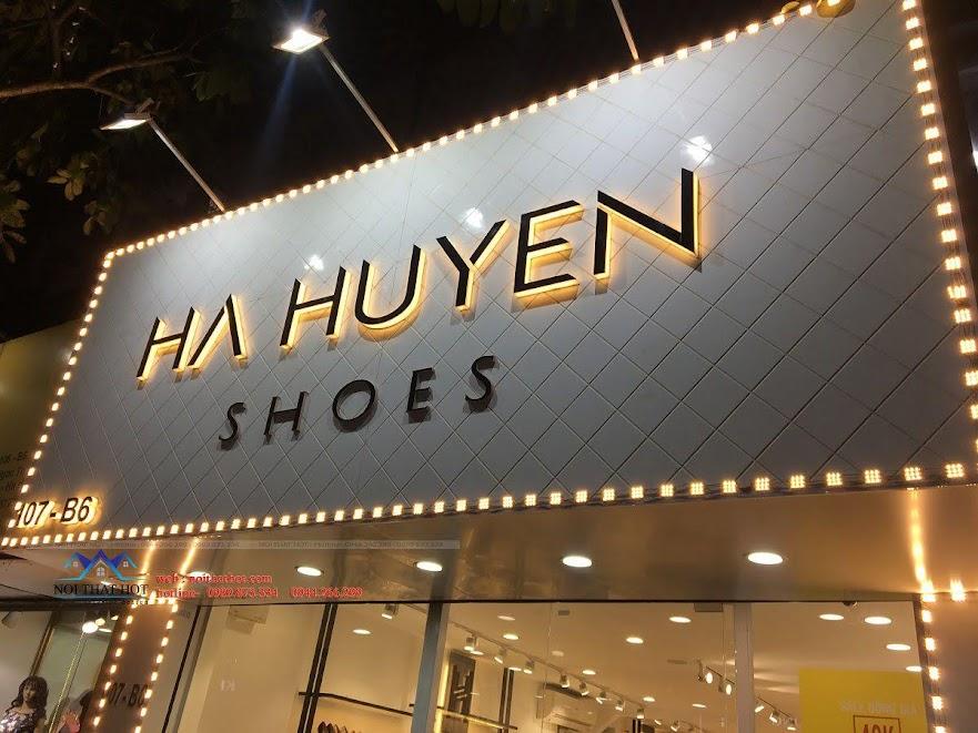 thiết kế thi công shop giày dép thời trang ha huyen 1
