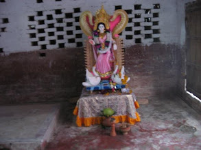 Photo: Saraswati Murti worshiped at Bajitpur Pranav Math on the day of Saraswati Puja (1/30/09)