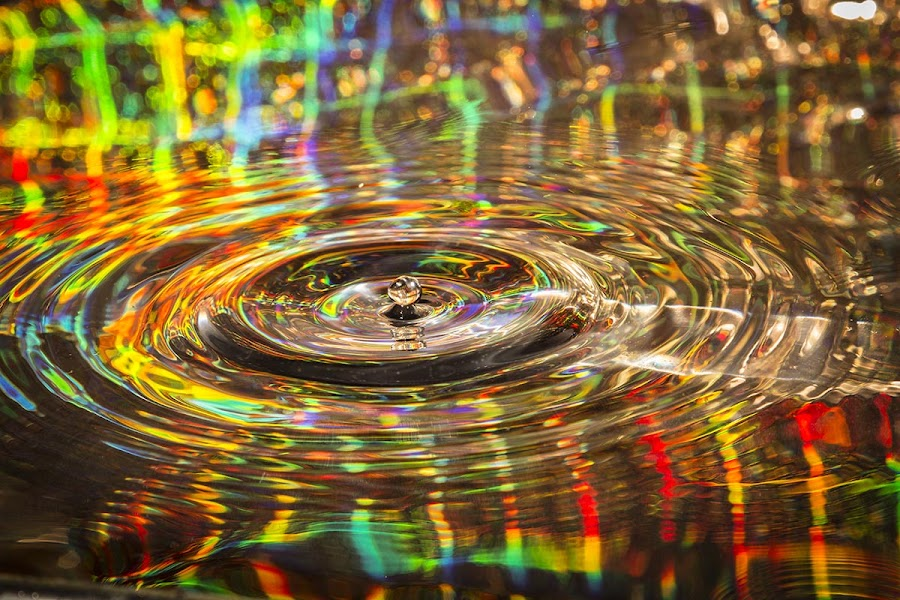 a drop of color by Chris Duffy - Abstract Water Drops & Splashes ( abstract, colour, water, colourful, abstract art, color, drop, rings )