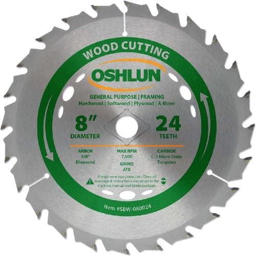 Oshlun SBW-080024 8-Inch Saw Blade