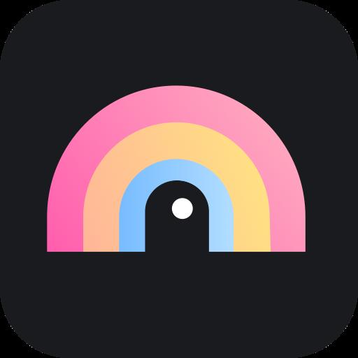 Rainbow-Photo Overlay, Superimpose Double Exposure Icon