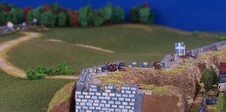 Photo: Un particolare dei bastioni della città di Quebec.Miniature Baccus, materiale scenico TimeCast e autocostruito.