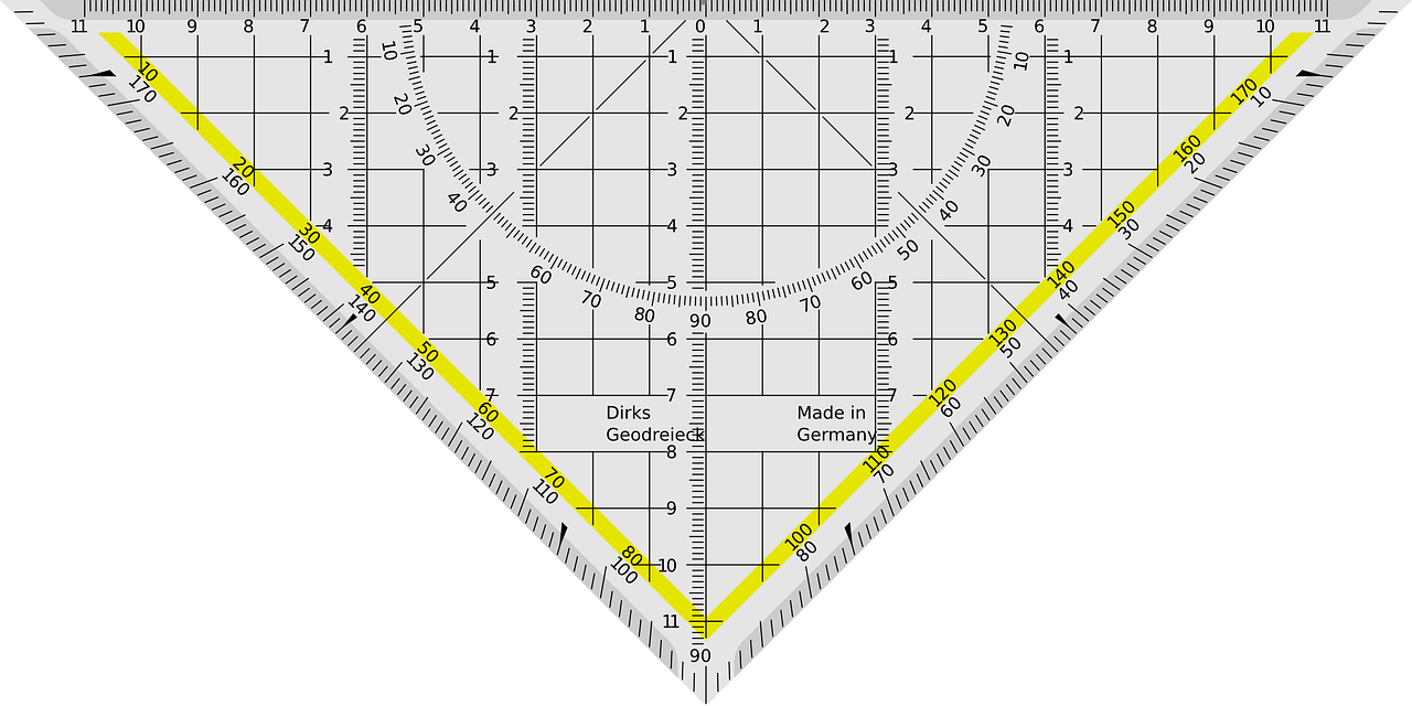 Triangle ruler graphic