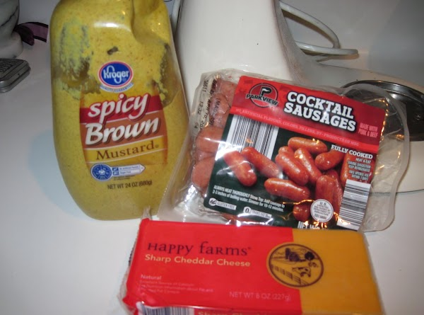 You can use any type of cheese you like and any type of mustard...