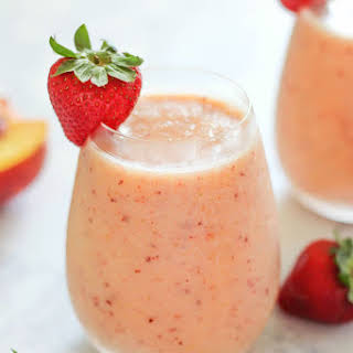 Strawberry Peach Smoothie.