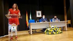 Carmen Crespo, este lunes en Suflí, durante su intervención ante la Mancomunidad.