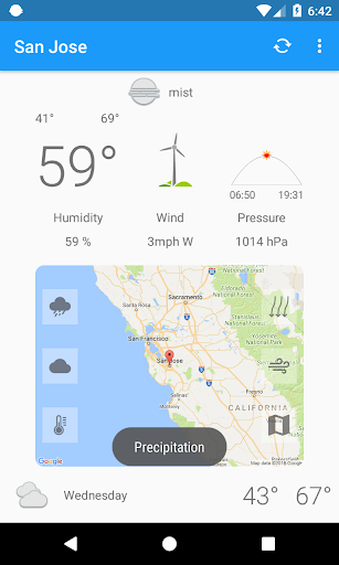 San Jose,CA - weather and more 1.0 screenshots 1