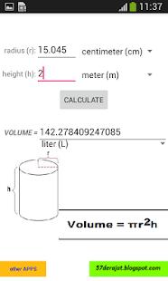 Cylinder Calculator ADFREE - náhled