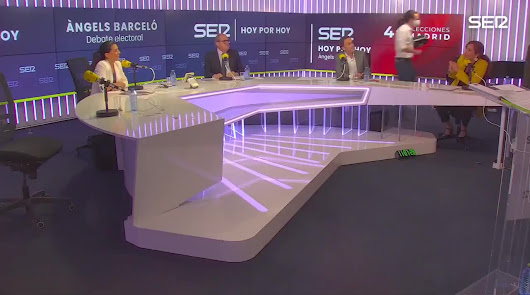 Tensión en la SER: Pablo Iglesias abandona el debate por los ataques de VOX