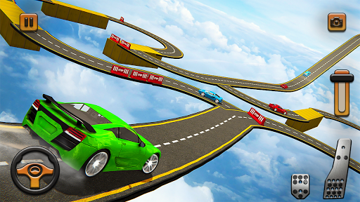 Impossible Tracks Car Mountain Climb Stunts Racing screenshot 8