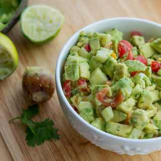 5 Ingredient Tomato, Cucumber & Avocado Salad.
